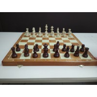 Шахматы Стаунтон 6 с деревянной доской