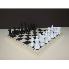 Шахматы с деревянной доской, утяжеленные