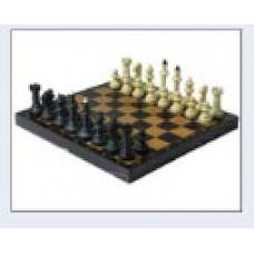 """Шахматы """"Айвенго"""" пластиковые с деревянной черной доской"""